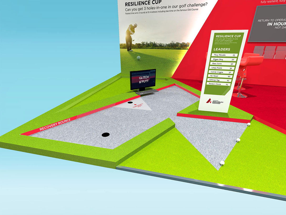 Exhibition Stand Design with Mini Golf Course for Sungard