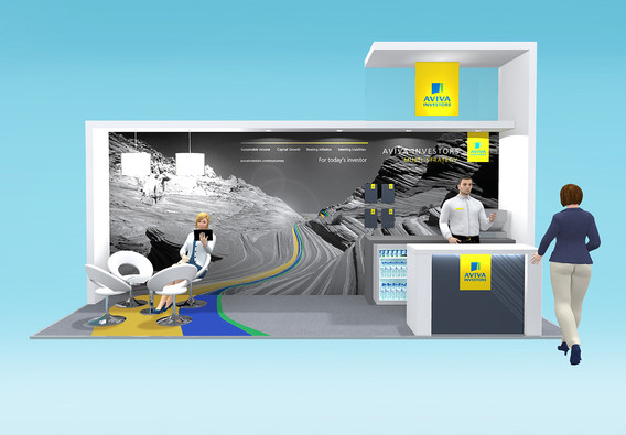 Exhibition Stand Design Concept - Aviva Investors at Fund Forum