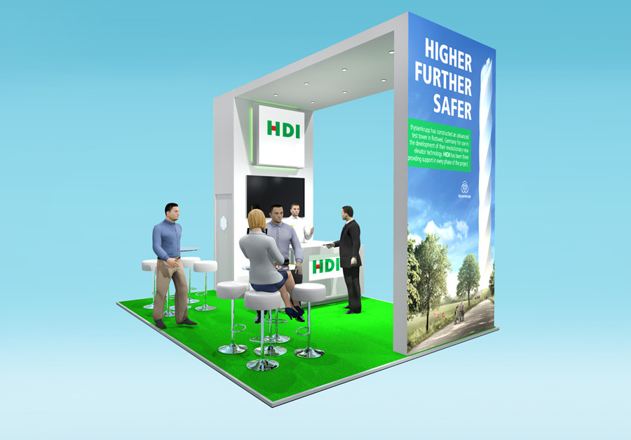 Exhibition Stand graphic Design HDI Airmic 2019