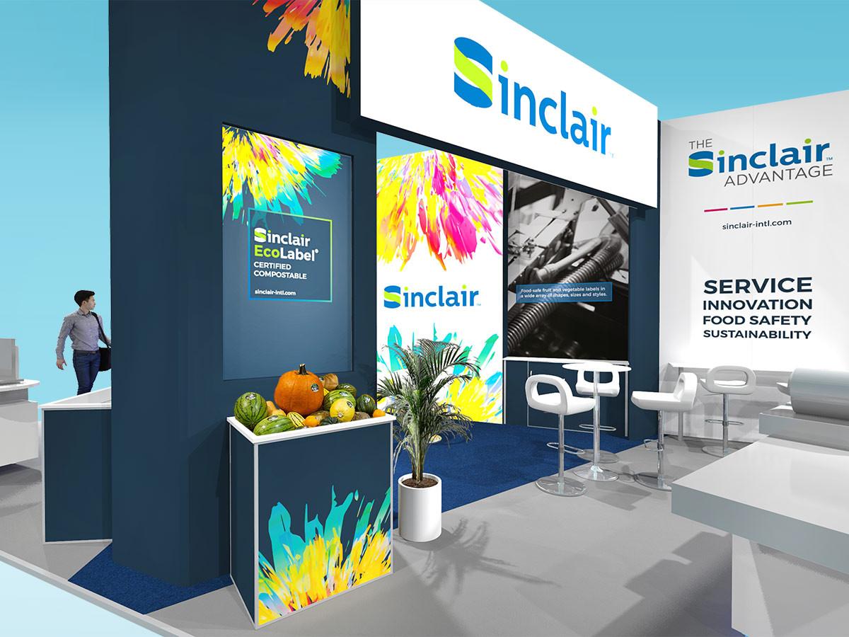 Exhibition Stand Graphic Design Concept Sinclair
