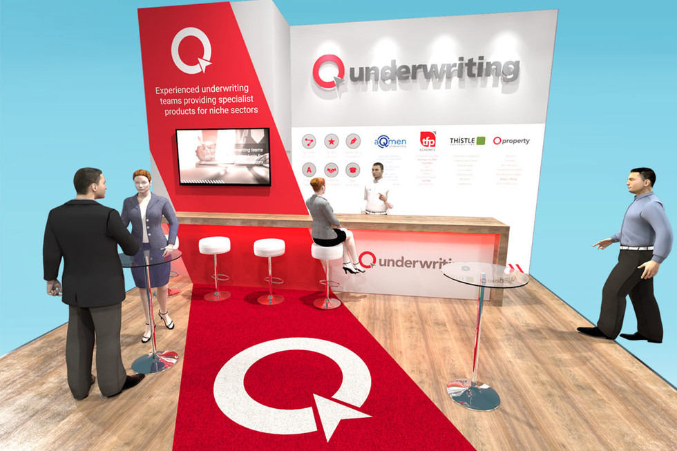 Exhibition Stand Design for Q Underwriting at BIBA