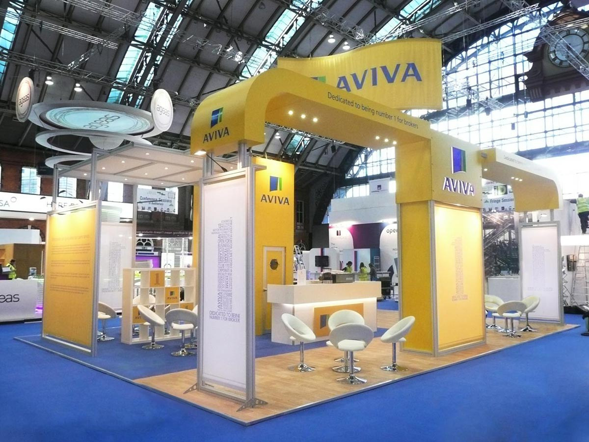Custom Modular Exhibition Stand Construction Aviva BIBA
