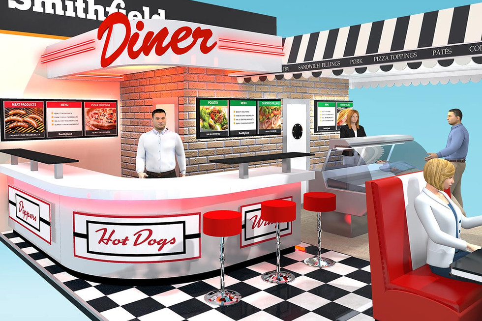 Diner Style Exhibition Stand Design Concept