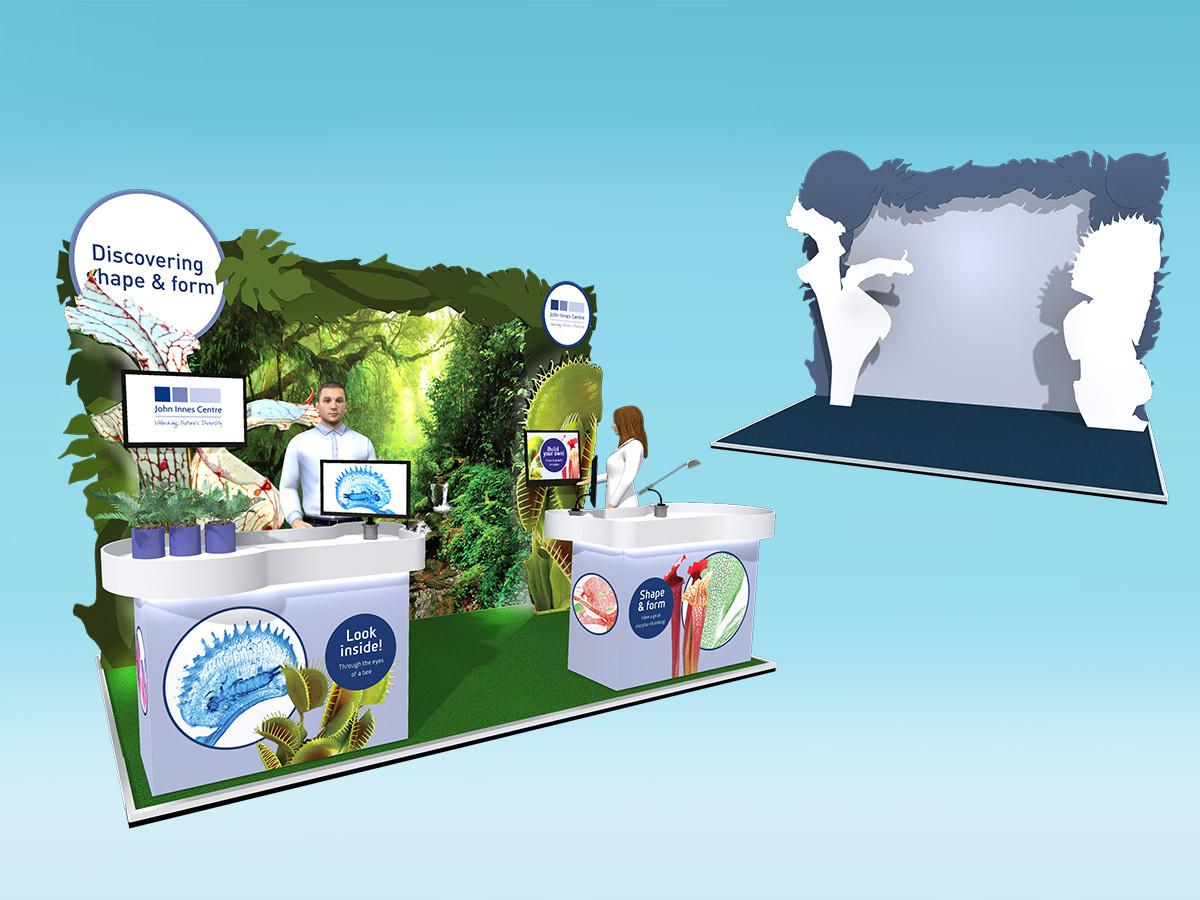 Unique Plant Graphics for Exhibition Stand Concept