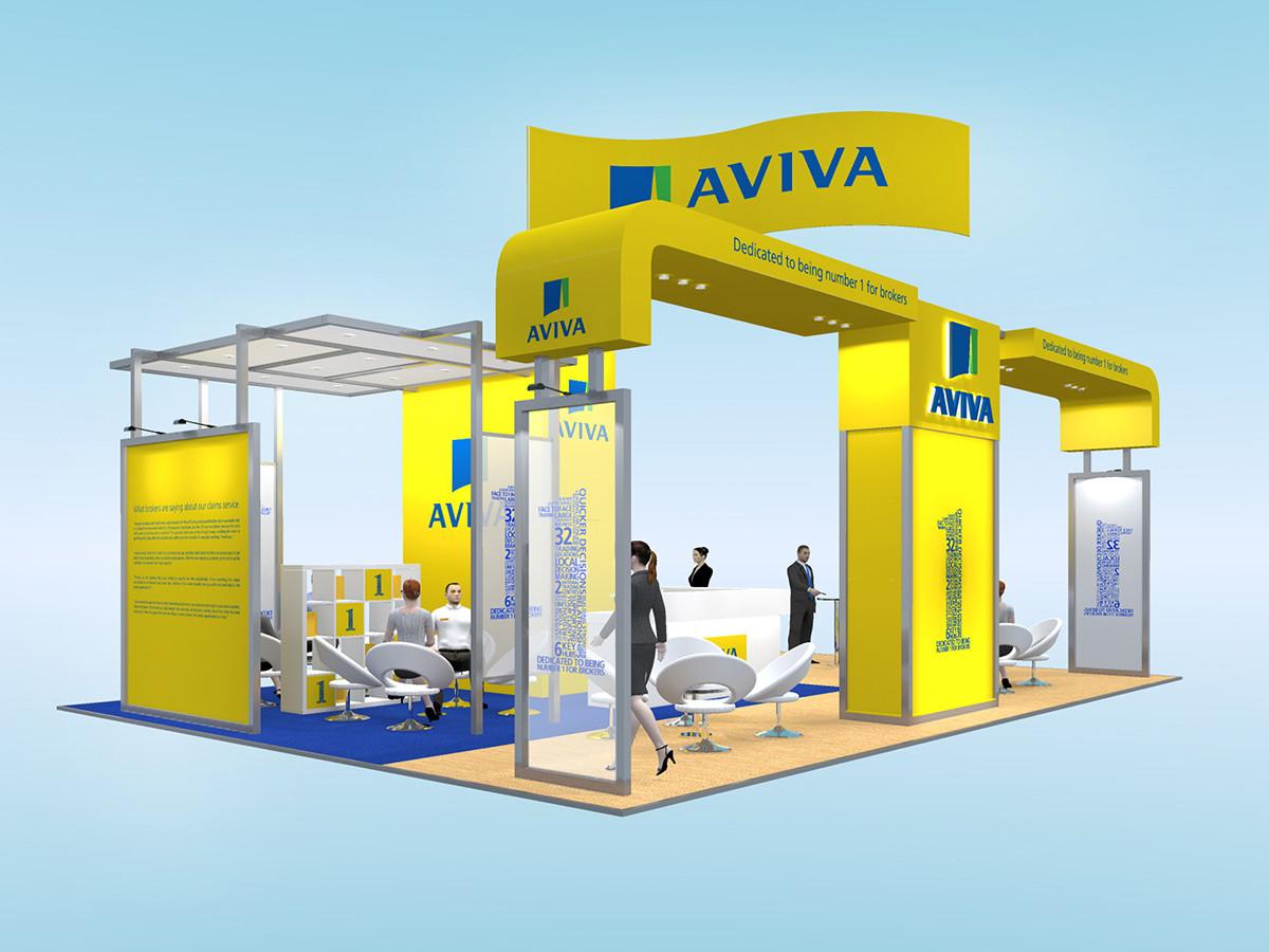 Modular Exhibition Stand Design Concept Aviva BIBA