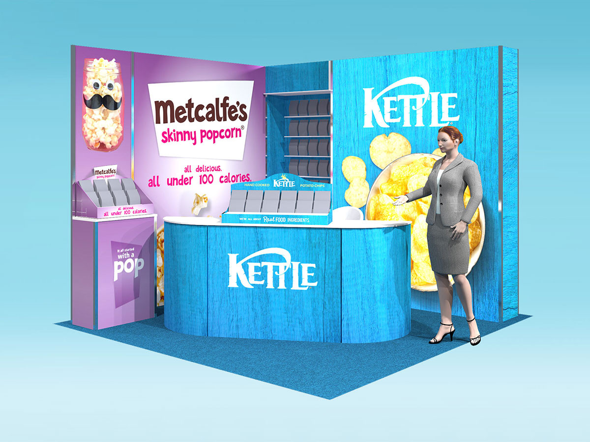 Kettle Foods Modular exhibition stand design concept