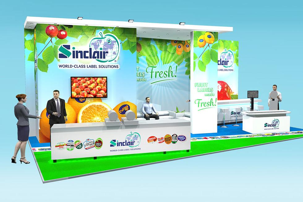 Exhibition Stand Design Concept Sinclair Fruit Labelling
