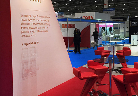 Exhibition Stand Display area Sungard Cloud Expo