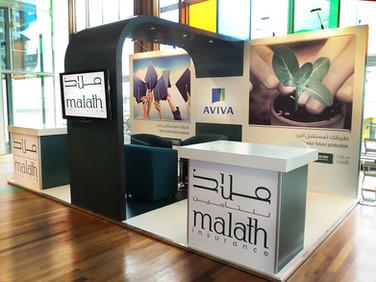 Custom Exhibition Stand - Aviva & Malath Insurance