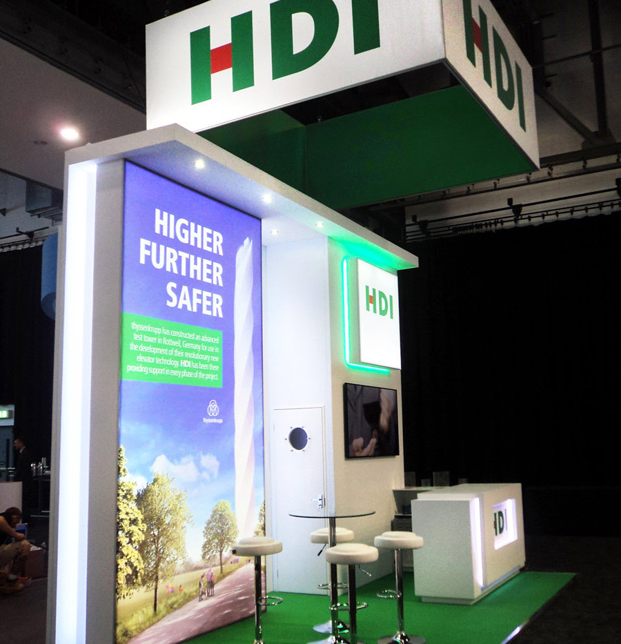 Custom Exhibition Stand HDI at Airmic 2018