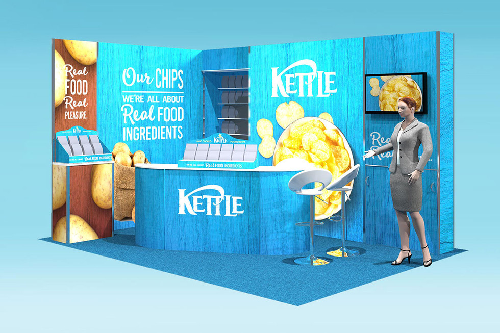 kettle chips modular exhibition stand design