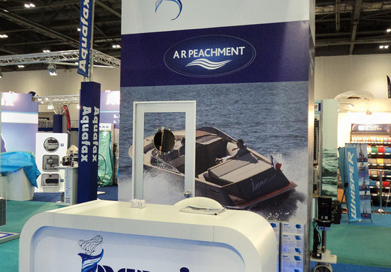 Custom Exhibition Stand Counter A R Peachment