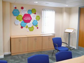 Bright Custom Office Graphics Norfolk Rock