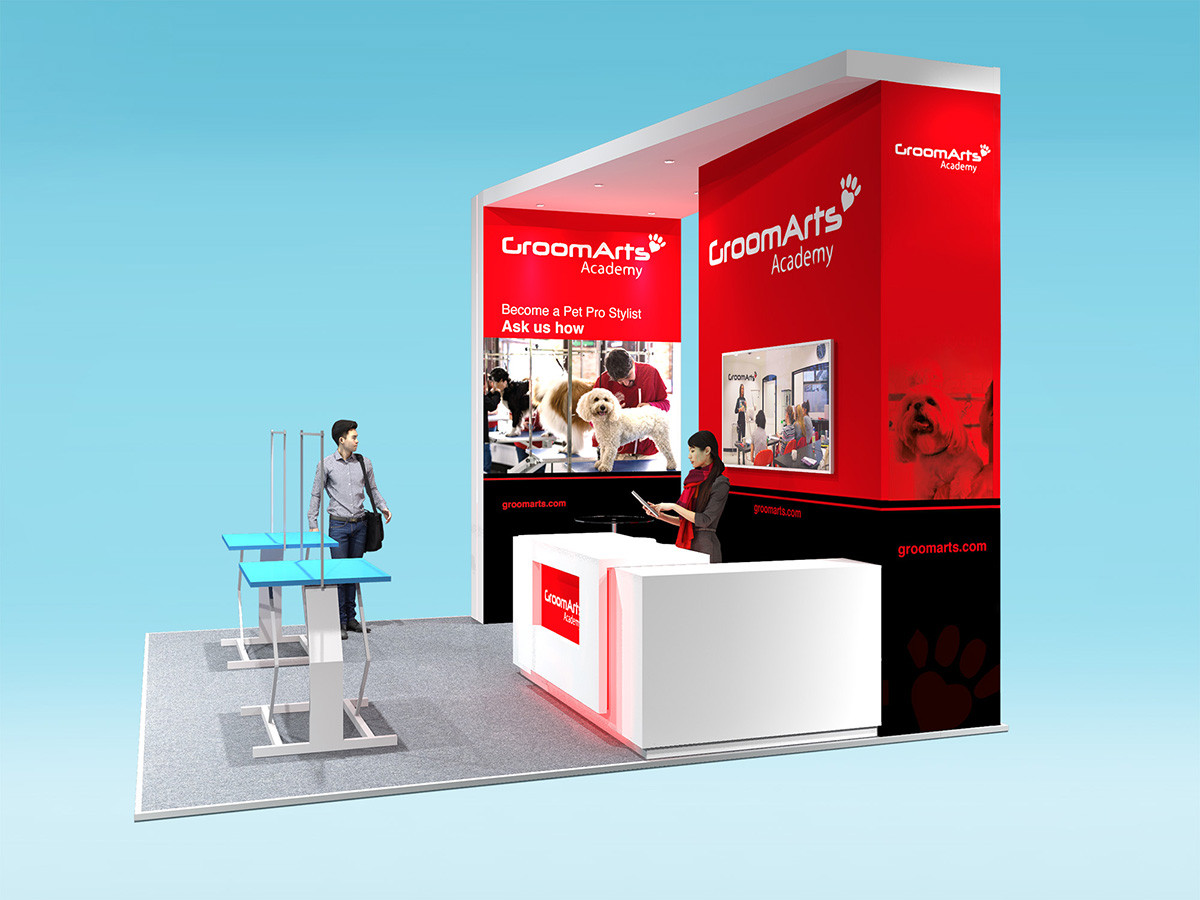 custom exhibition stand design GroomArts
