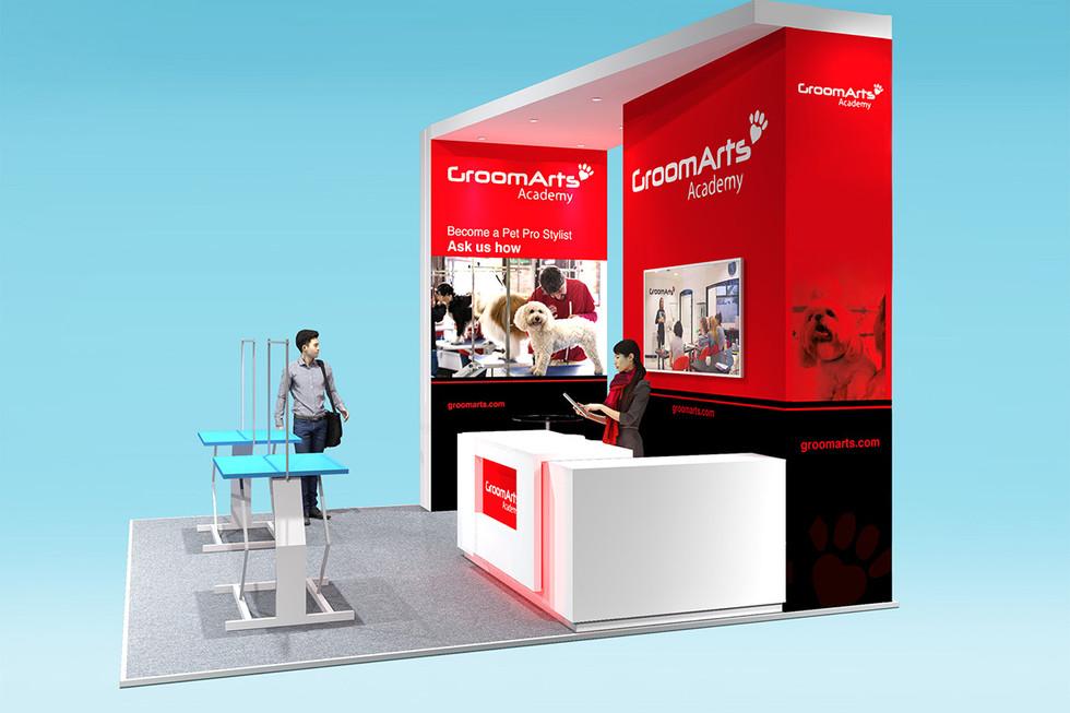 custom exhibition stand design GroomArts