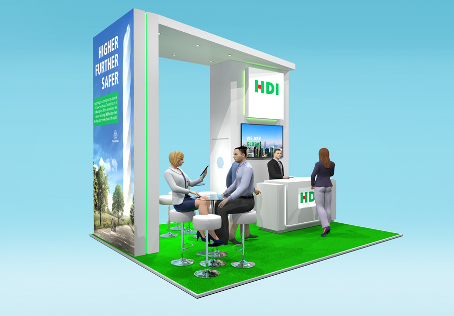 Concept Exhibition Stand Design HDI Airmic 2019