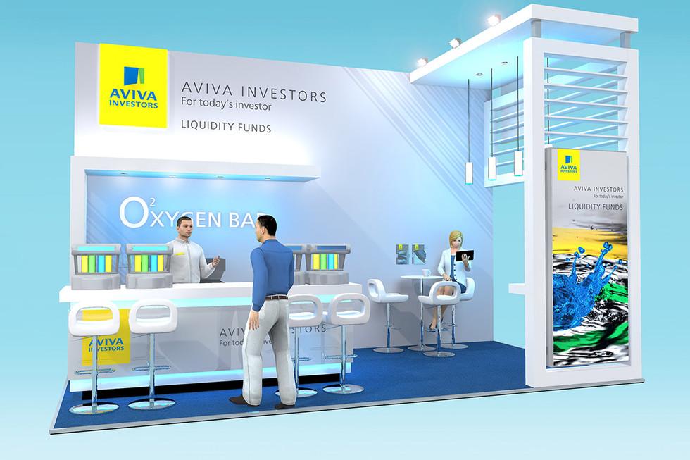 Aviva Investors Exhibition Stand Concept