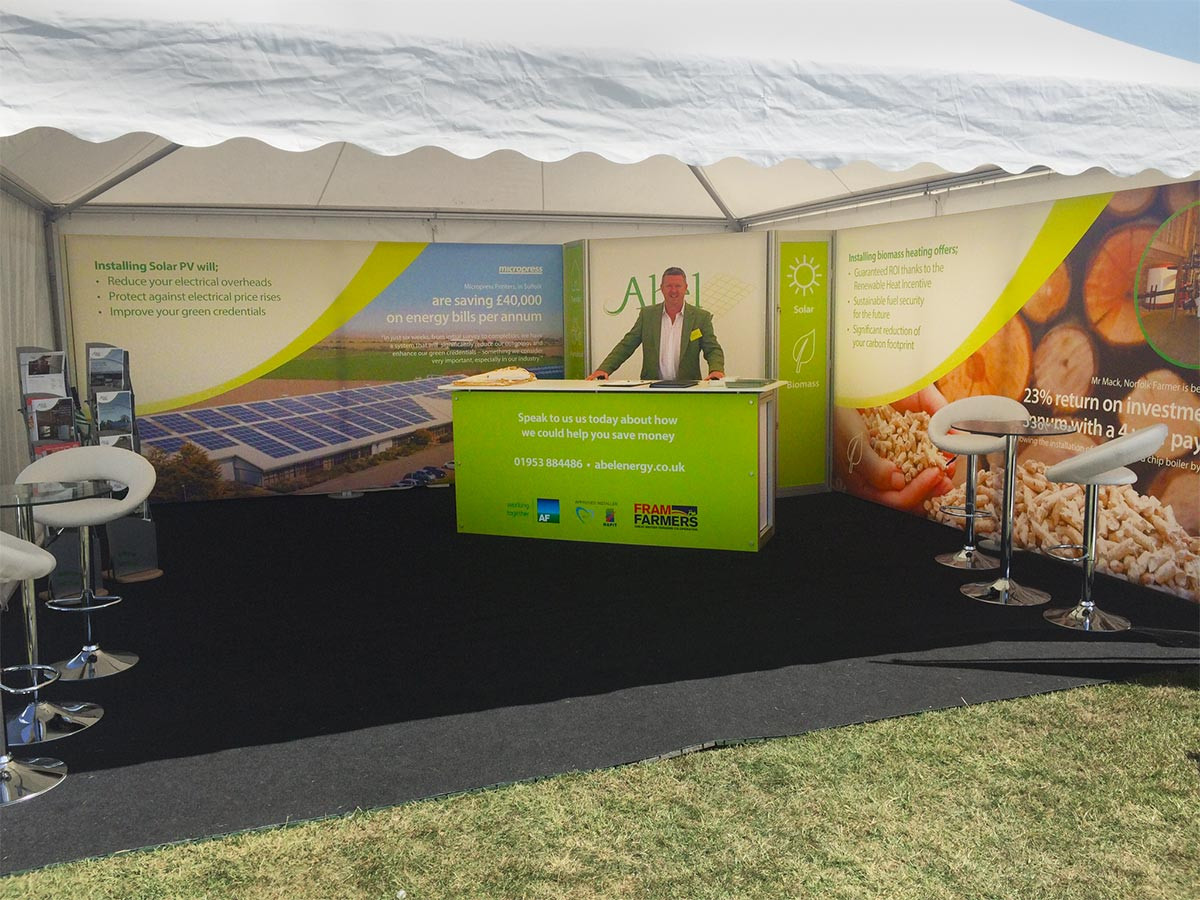 Outdoor portable display marquee - AbelEnergy