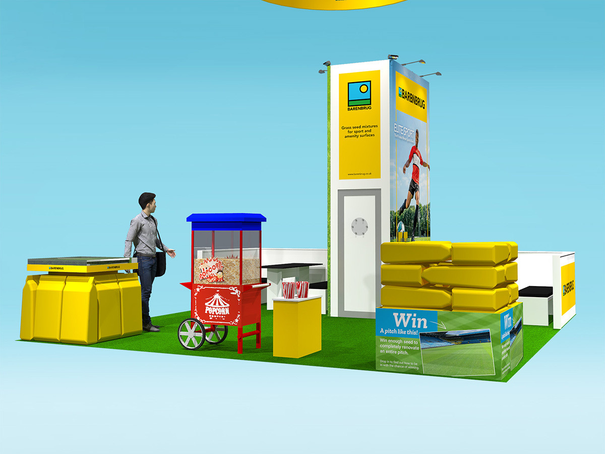Custom Exhibition Stand Design Barenbrug at Saltex 2019