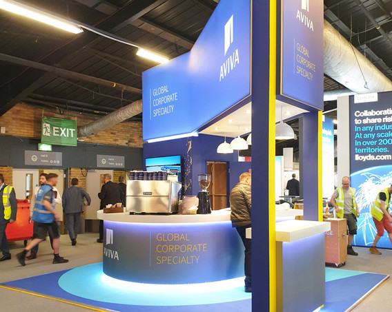 Sustainable Custom Exhibition Stand Aviva Airmic 2019