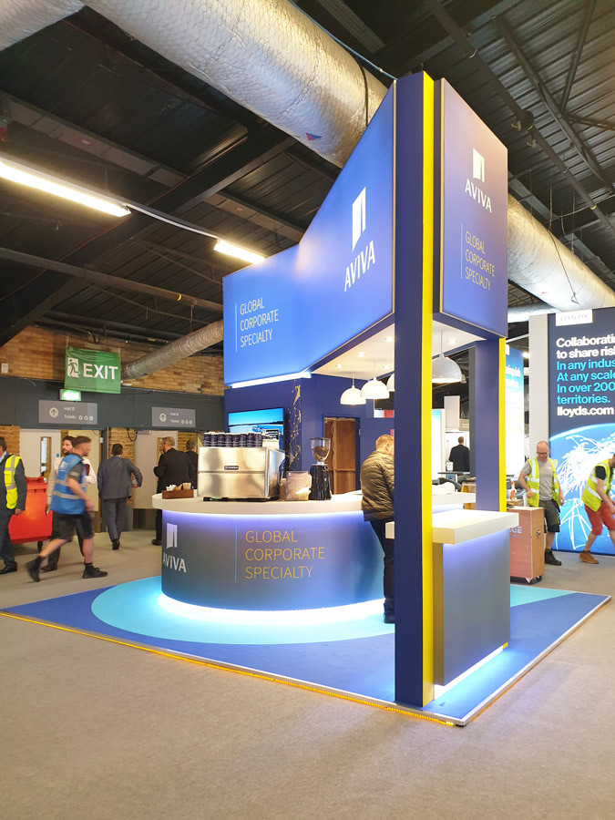 Sustainable Custom Exhibition Stand Aviva Airmic 2019