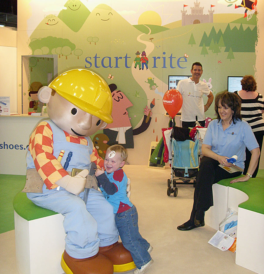 Bob the Builder Attraction on Startrite Shoes Exhibition Stand