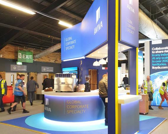 Custom Exhibition Stand Architecture Aviva Airmic 2019