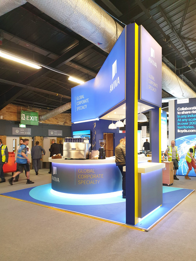 Custom Exhibition Stand Architecture Aviva Airmic 2019