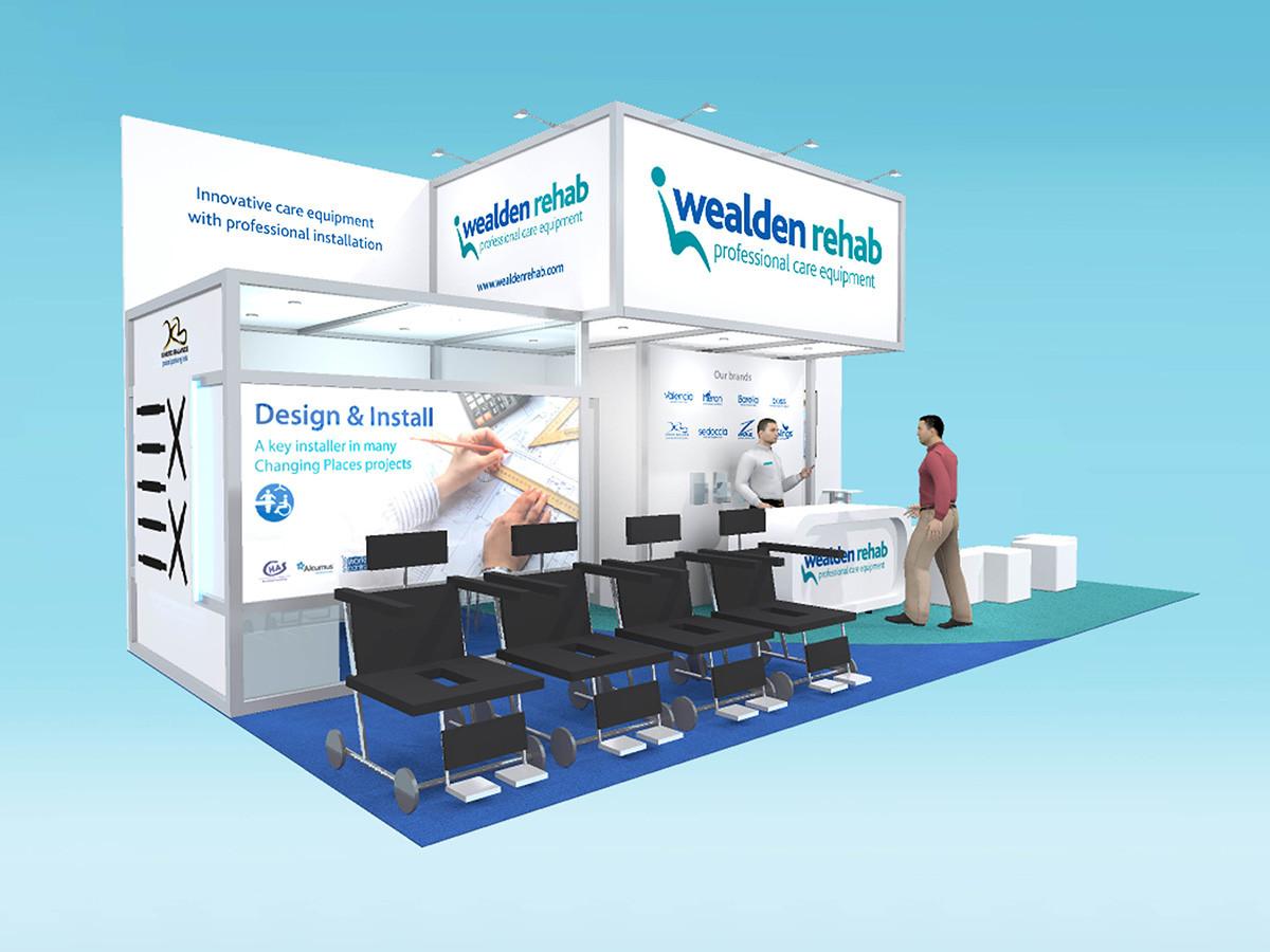 Custom Modular Exhibition Stand Design Wealden Rehab