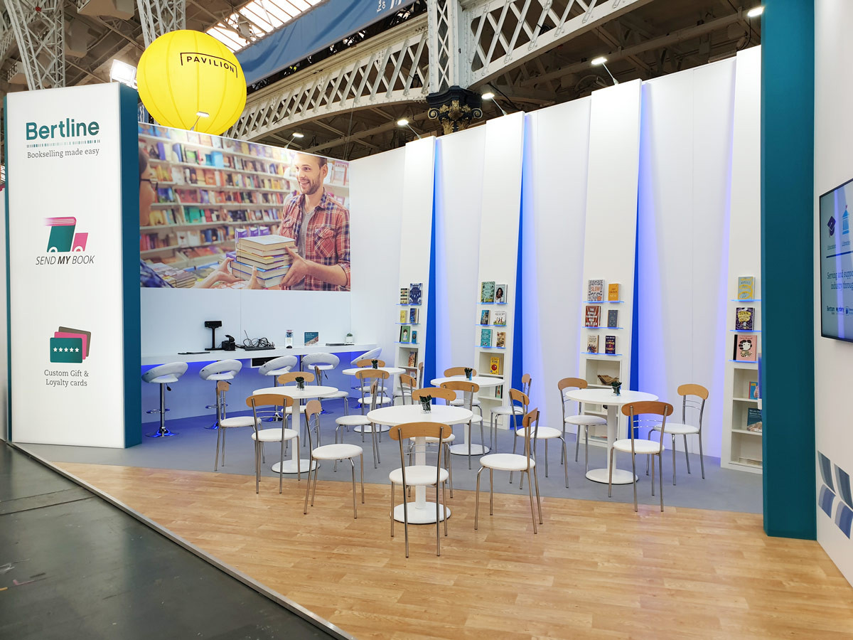 Custom Exhibition Stand Seating Area Bertram Group London Book Fair 2019