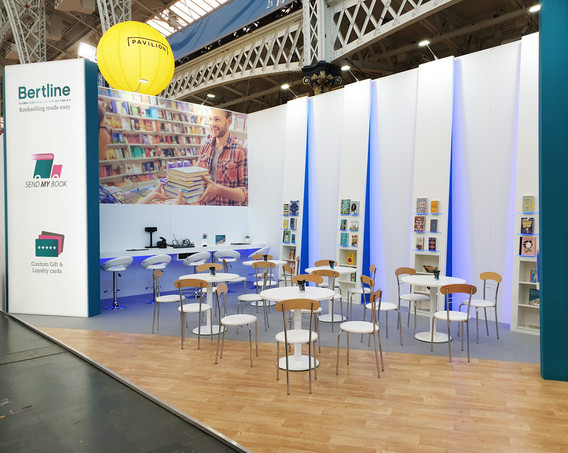 Custom Exhibition Stand Seating Area Bertram Group London Book Fair 2019