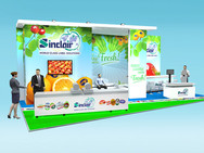 Sinclair Exhibition Stand Design Concept for Fruit Logistica 2018
