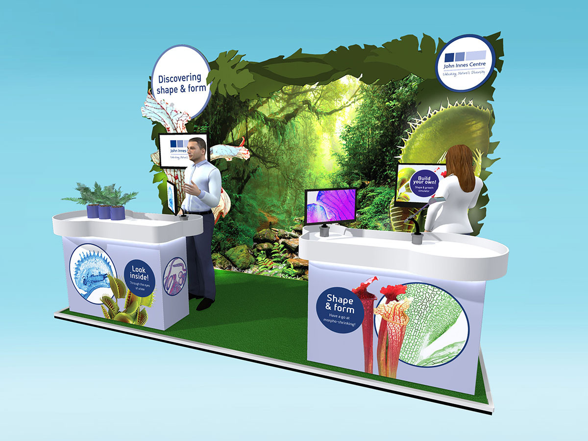 Botanical Exhibition Stand Design Concept