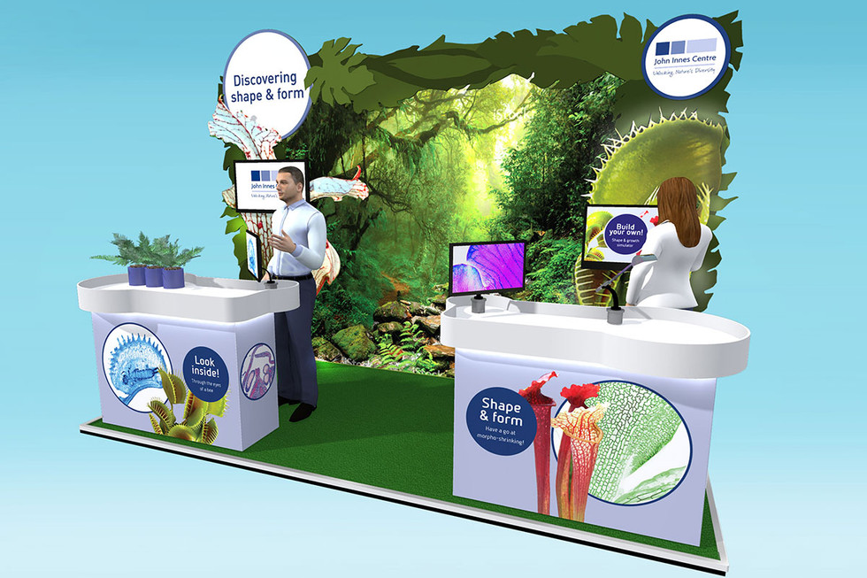 Botanical Exhibition Stand Design Concept