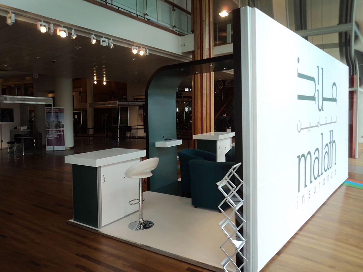 Exhibition Stand Backdrop Malath Insurance