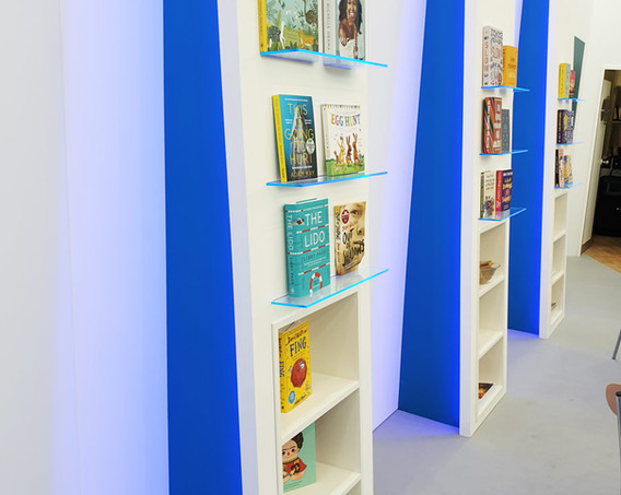 Custom Book Displays Bertram Group Exhibition Stand London Book Fair 2019