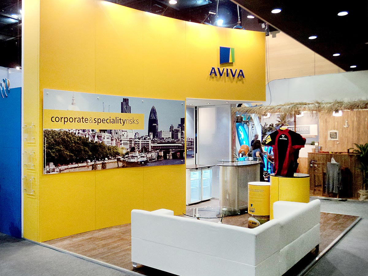 Exhibition Stand Design and Build Aviva Airmic 2011