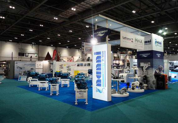 Custom Modular Exhibition Stand - A R Peachment at London Boat Show
