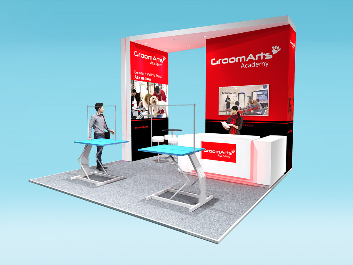 Custom Modular Exhibition Stand Design GroomArts
