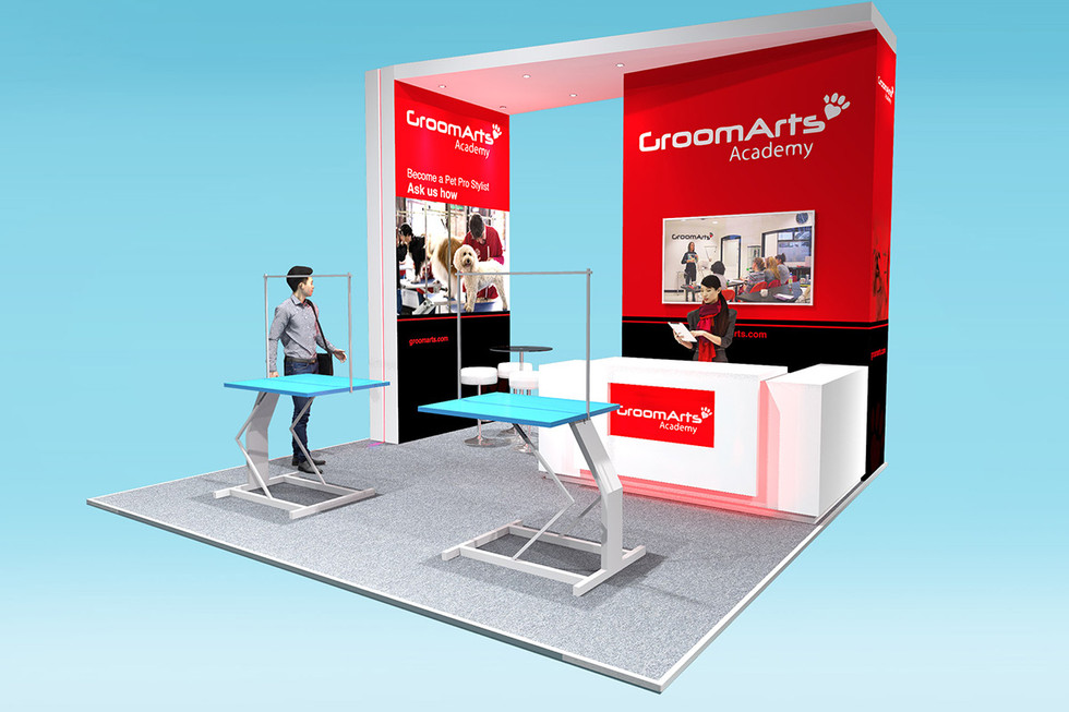 Custom Modular Exhibition Stand Design GroomArts