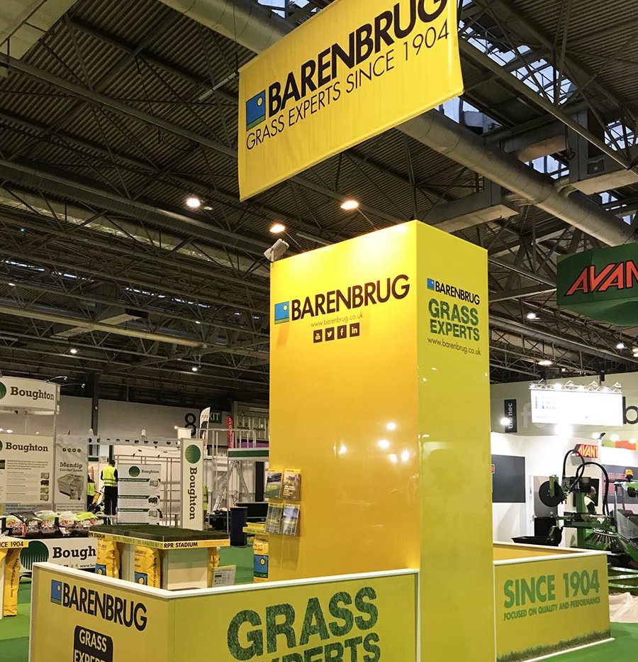 Custom Exhibition Stand with Banner for Barenbrug at Saltex17