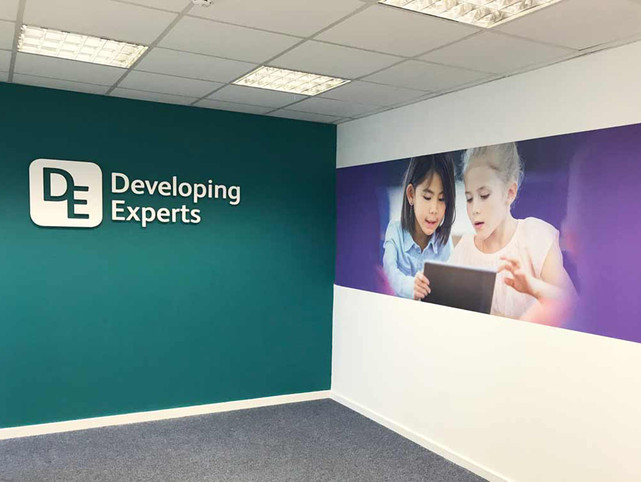 Office Interior Graphics and Logo for Developing Experts Norfolk
