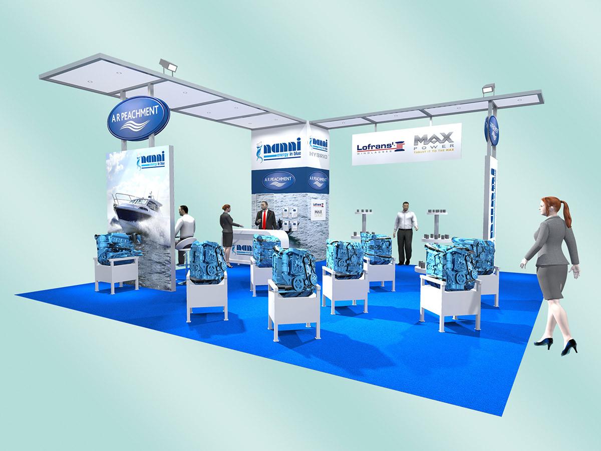 Custom Exhibition stand design A R Peachment