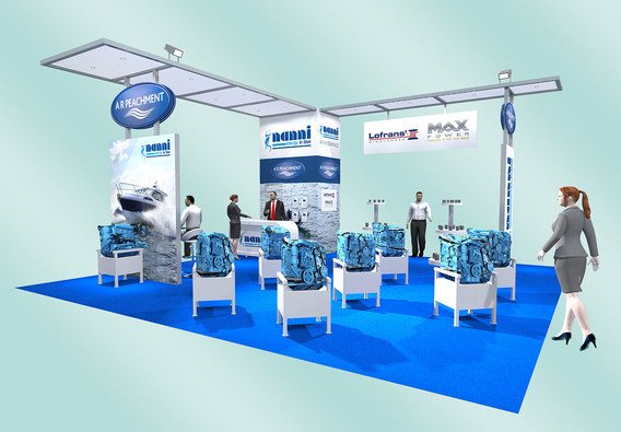 Custom Exhibition stand design A R Peachment