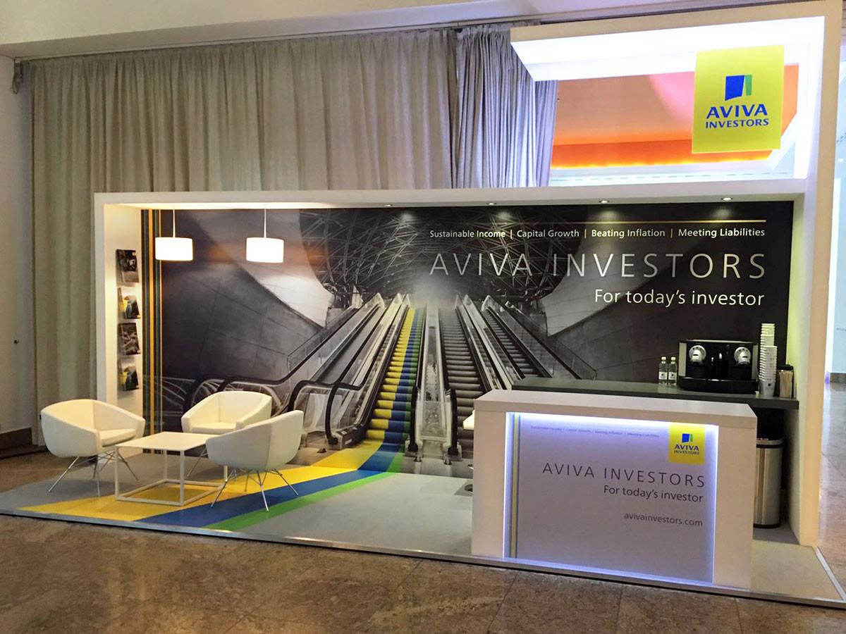 Custom Exhibition Stand - Aviva Investors at Fund Forum