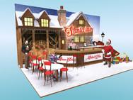 Santa Inc. Christmas Exhibition Stand Design Concept