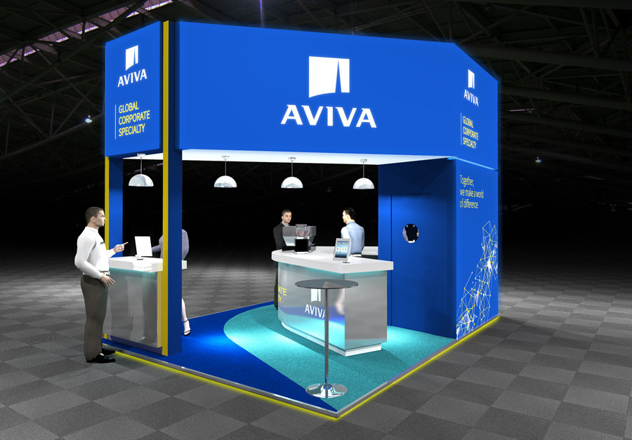 Exhibition Stand Concept Aviva at Airmic 2019