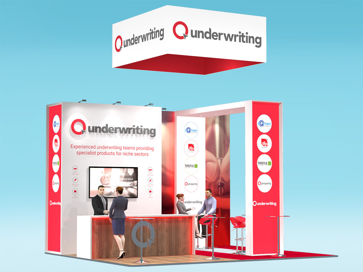 Exhibition Stand Design Concept - Q Underwriting