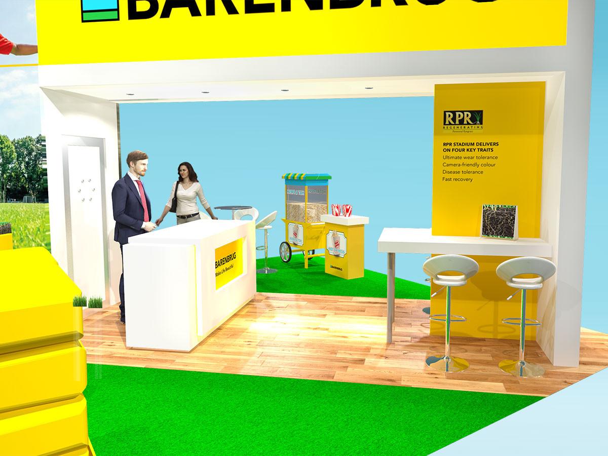 Exhibition Stand Design Concept Reception Counter Barenbrug Saltex 2019