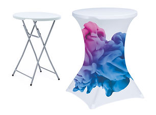 Folding Bar Table with Branded Table Cover from Image Display Norwich